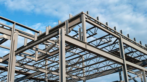 steel building frame